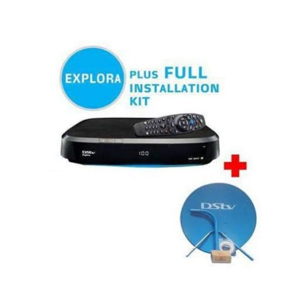Dstv Explora Decoder With Complete Dish Kits,30M Coaxial Cable,1 Month Subscription