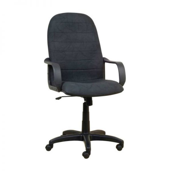 Alfa – HB-High Back Chair, Gaslift, Tilting Mechanism With Adjustment Control With Plastic Arms And Base