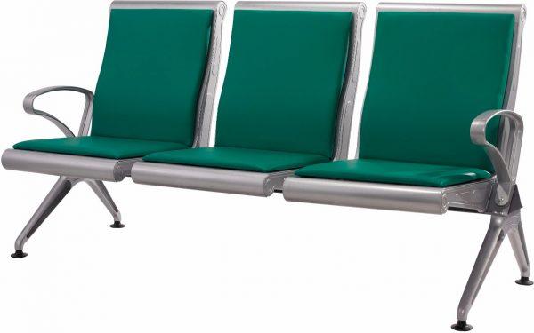 Alumimium Three Seater Fixed Chair