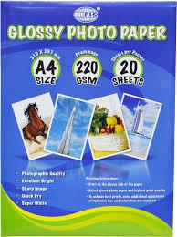 GLOSSY PHOTO PAPERA4 220GSM 50 SHEETS