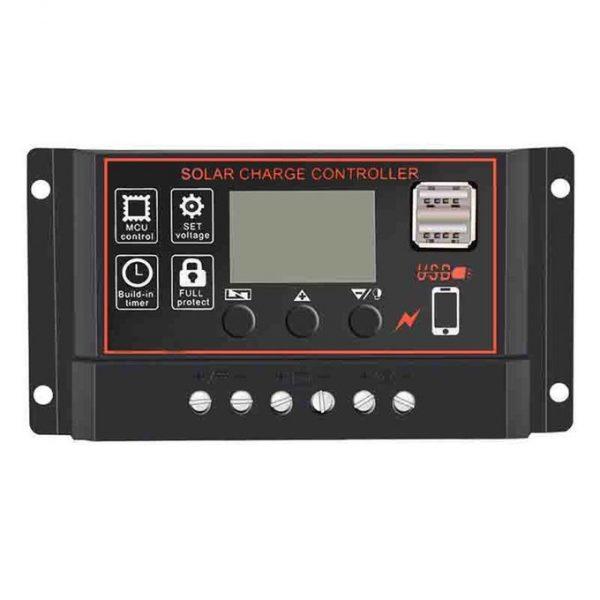 60A Solar Panel Controller Battery Charge Regulator 12V-24V