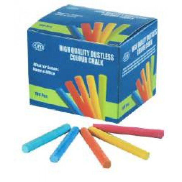 Dustless Colour Chalk – 12 PCS