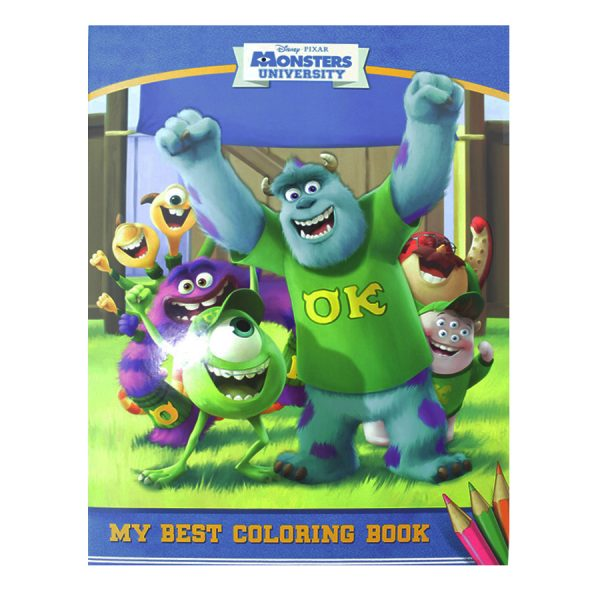 MONSTERS UNIVERSITY COLORING BOOK A4 – MOD37