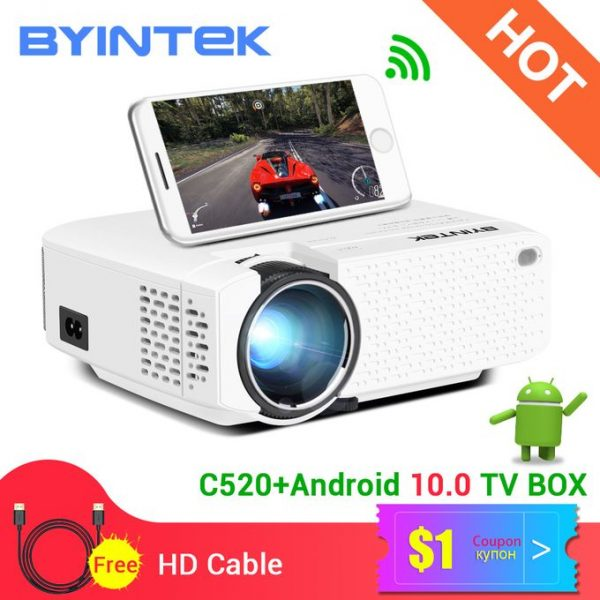 Mini Smart Projector WiFi 5G Portable Support Mobile Phone