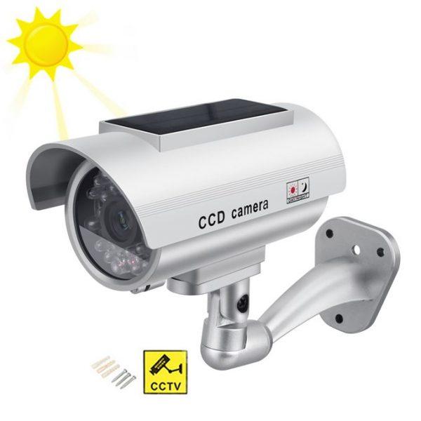 Solar Power LED Monitor CCTV Surveillance Camera