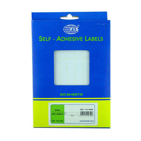 Office Labels 10 X 49Mm 20 Sheets-540 Labels-A6 Size