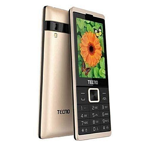 Tecno T528 - 2.8 Inch, Dual Sim, FM Radio, Opera Mini, Camera,Battery 2500mAh - Champaign Gold