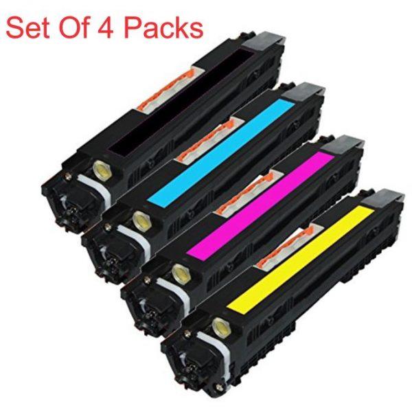 CF350A, CF351A, CF352A, CF353A (130A) 4 Pack Compatible Toner Cartridge Combo For HP Color LaserJet Pro
