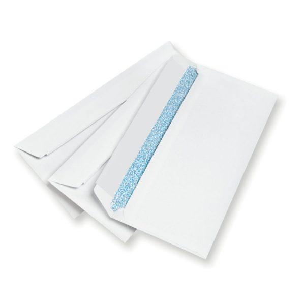 Hispapel 55219 -White Envelope 115X225–Pcs- 9X4.5″